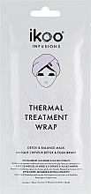 "Profumi e cosmetici Maschera termica ""Detox and balance"" - Ikoo Infusions Thermal Treatment Wrap"