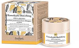 Profumi e cosmetici Bio-crema antirughe 40+ - Farmona Canadian BioLifting Yellow Birch