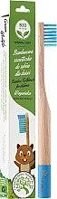 Profumi e cosmetici Spazzolino da denti, di bambù, per bambini, morbido, blu - Biomika Natural Bamboo Toothbrush