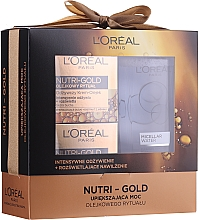 Profumi e cosmetici Set L'Oreal Nutri Gold (cr/mask 50 ml + cr/oil 50 ml + micell/wat 200 ml) - Loreal Nutri Gold