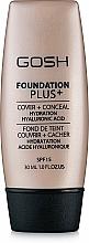 Profumi e cosmetici Fondotinta opacizzante - Gosh Foundation Plus SPF15