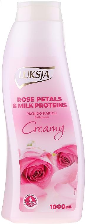 Bagnoschiuma - Luksja Creamy Rose Petals & Milk Proteins Bath Foam