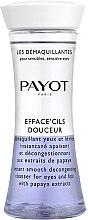 Profumi e cosmetici Detergente bifasico con estratto di papaia per occhi e labbra - Payot Les Demaquillantes Efface Cils Douceur Instant Smooth Decongesting Cleanser