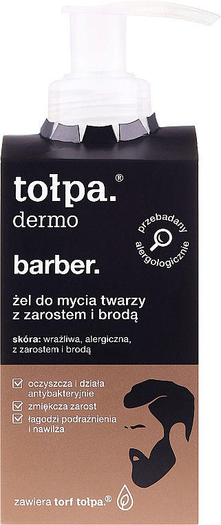 Gel per viso e barba - Tolpa Dermo Man Facial and Beard Gel Wash