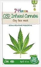 Profumi e cosmetici Maschera viso all'argilla con olio di canapa - 7th Heaven CBD Infused Cannabis Clay Face Mask