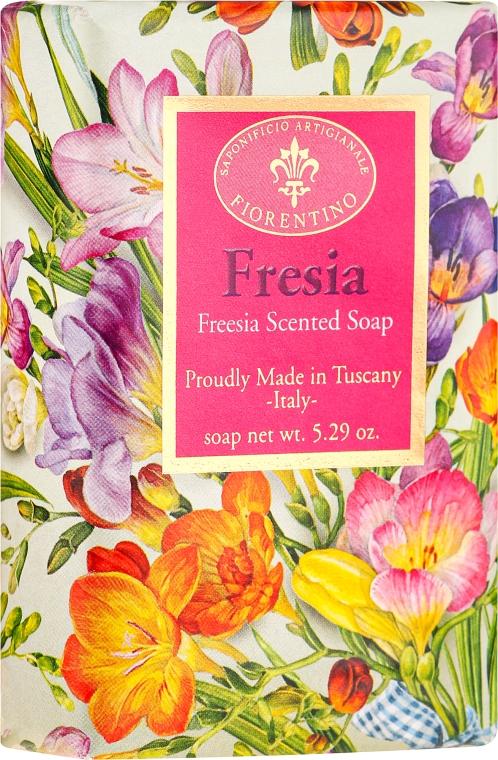 """Sapone naturale """"Fresia"""" - Saponificio Artigianale Fiorentino Masaccio Freesia Soap"""