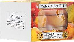 Profumi e cosmetici Candele profumate, 12pz - Yankee Candle Scented Tea Light Candles Mango Peach Salsa