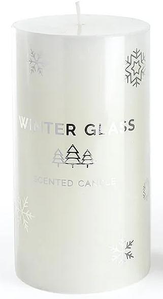Candela profumata, bianca, 9x8cm - Artman Winter Glass — foto N1