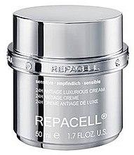 Profumi e cosmetici Crema 24 h pelle sensibile - Klapp Repacell 24H Antiage Luxurious Cream Sensitive