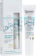 Profumi e cosmetici Crema contorno occhi, anti-rughe - Lavera Basis Sensitiv Anti-Ageing Eye Cream Q10