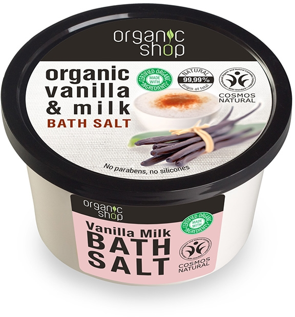 "Sale da bagno ""Latte e vaniglia"" - Organic Shop Baths Salt Organic Vanilla & Milk"