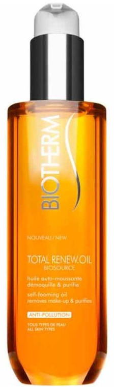 Olio struccante schiumogeno - Biotherm Biosource Total Renew Oil — foto N1