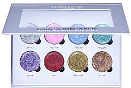 Profumi e cosmetici Palette ombretti glitter - Bellapierre 8 Color Pro Glitter Eye Palette