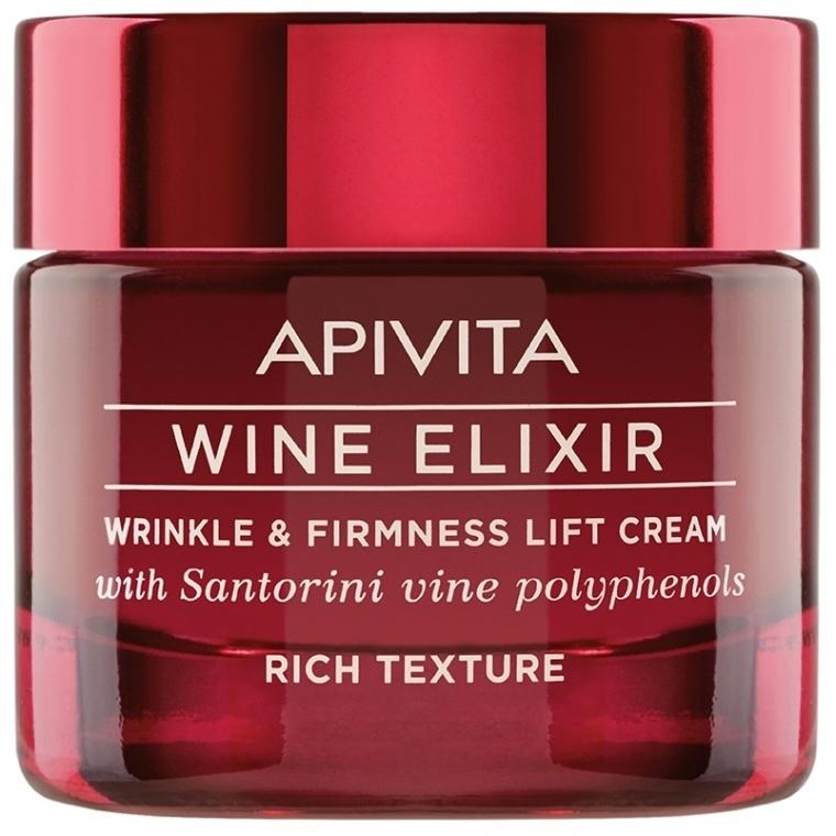Crema lifting antirughe con polifenoli di vini di Santorini - Apivita Wine Elixir Wrinkle And Firmness Lift Cream Rich Texture