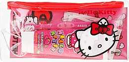 Profumi e cosmetici Set da viaggio per bambini - VitalCare Hello Kitty Dental Travel Kit (teeth/brush + teeth/paste/75ml + 10 x plasters)