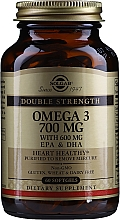 "Profumi e cosmetici Integratore alimentare ""Omega-3"" 700 mg EPA e DHA - Solgar Double Strength Omega-3 700 mg EPA & DHA"