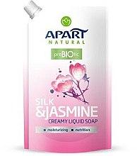 "Profumi e cosmetici Sapone-crema ""Seta e gelsomino"" - Apart Natural Silk & Jasmine Soap (doypack)"