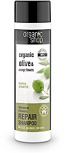 Profumi e cosmetici Shampoo rigenerante all'olio di oliva e argan - Organic Shop Organic Olive and Argan Oil Repair Shampoo