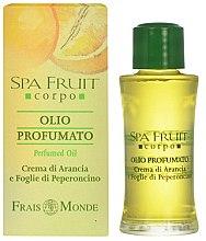 Profumi e cosmetici Frais Monde Spa Fruit Orange And Chilli Leaves Perfumed Oil - Olio profumato