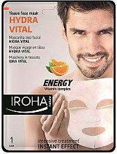 Profumi e cosmetici Maschera viso - Iroha Nature Hydra Vital Energy Vitamin Complex Tissue Face Mask
