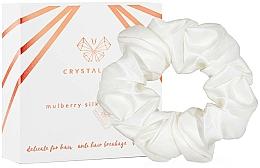 Profumi e cosmetici Elastico per capelli in seta, avorio - Crystallove