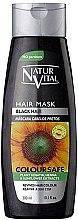 Profumi e cosmetici Maschera per preservare il colore dei capelli tinti - Natur Vital Coloursafe Henna Hair Mask Black Hair