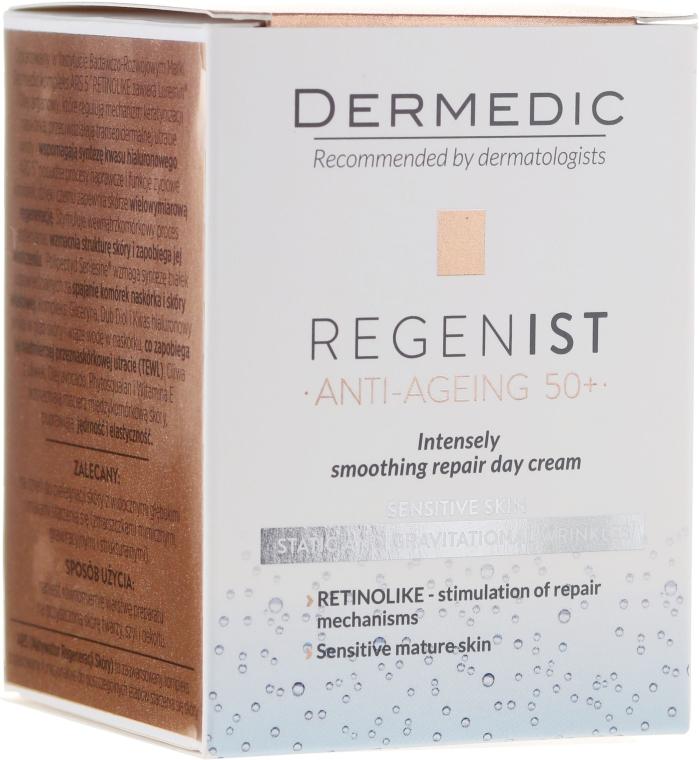 Crema viso rigenerante 50+, da giorno - Dermedic Regenist ARS 5 Retinolike Day Intensely Smoothing Repair Cream