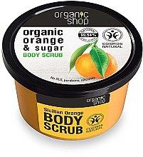 """Profumi e cosmetici Scrub corpo """"Arancia siciliana"""" - Organic Shop Body Scrub Organic Orange & Sugar"""