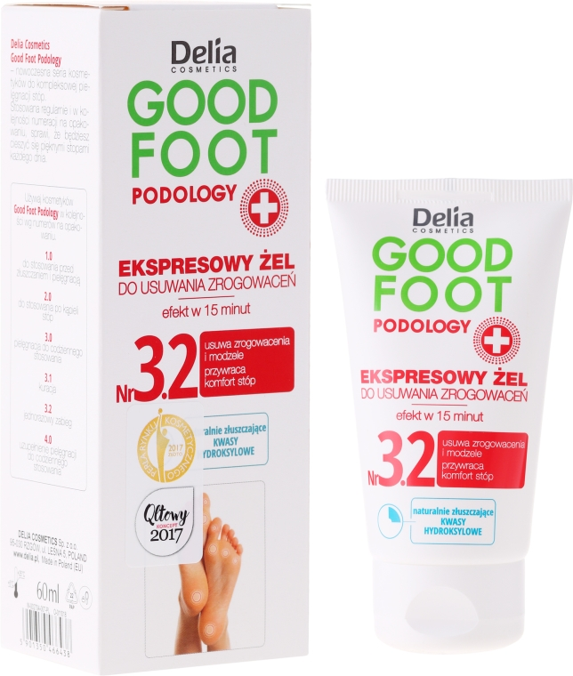 Gel per rimuovere calli - Delia Cosmetics Good Foot Podology Nr 3.2