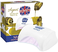 Profumi e cosmetici Lampada LED per unghie, bianca - Ronney Profesional Agnes LED 48W (GY-LED-032)