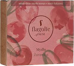 """Profumi e cosmetici Sapone naturale per mani e corpo """"Mirtillo rosso"""" - Flagolie by Paese Cranberry"""