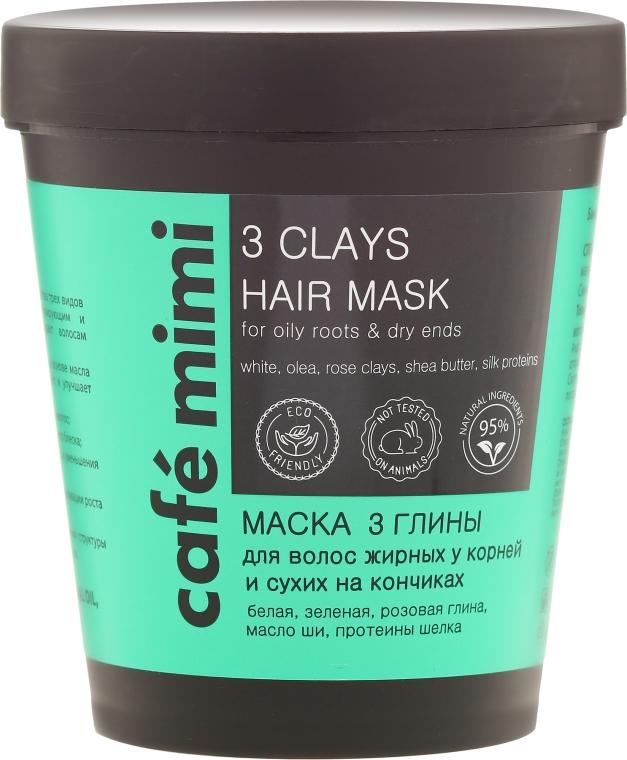 "Maschera per capelli ""3 Argille"" - Cafe Mimi 3 Clays Hair Mask"