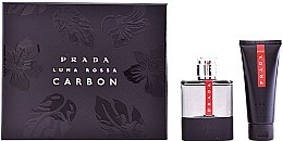 Profumi e cosmetici Prada Luna Rossa Carbon - Set (edt/100ml + ash/balm/100ml)