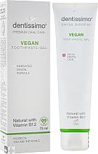 "Profumi e cosmetici Dentifricio-gel ""Vegan"" con vitamina B12 - Dentissimo Vegan with Vitamin B12"
