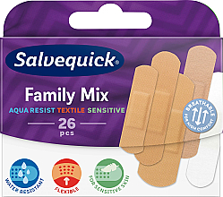 Profumi e cosmetici Set di cerotti - Salvequick Family Mix