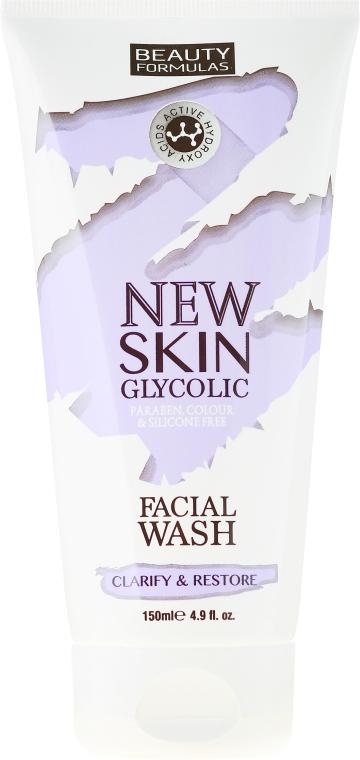 Gel detergente viso - Beauty Formulas New Skin Glycolic Facial Wash