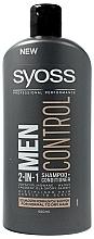Profumi e cosmetici Shampoo-condizionante 2in1 per capelli normali e secchi - Syoss Men Control