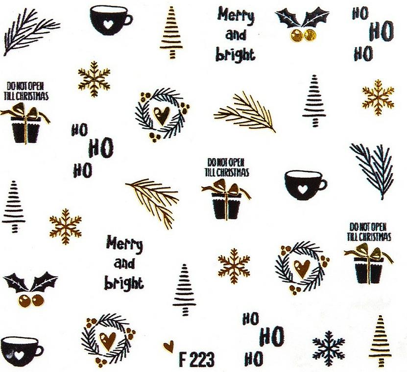 """Adesivi per unghie """"Natale 2020"""" - Peggy Sage Christmas 2020 (pz)"""