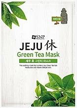 Profumi e cosmetici Maschera viso lenitiva al tè verde - SNP Jeju Rest Green Tea Mask