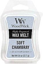 Profumi e cosmetici Cera aromatica - WoodWick Wax Melt Soft Chambray