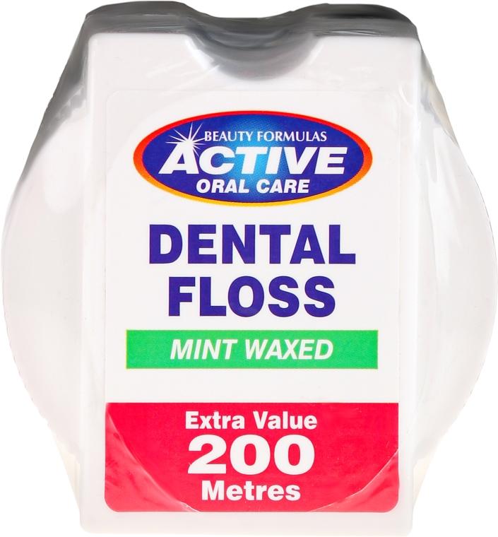Filo interdentale con aroma di menta - Beauty Formulas Active Oral Care Dental Floss Mint Waxed 200m