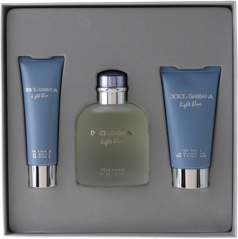 Dolce & Gabbana Light Blue pour Homme - Set (edt 125 + sh/g 50 + a/sh balm 75)