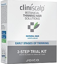 Profumi e cosmetici Sistema per diradamento dei capelli naturali - Joico Cliniscalp 3-step Trial Kit For Natural Hair Early Stages (shmp/100ml + cond/100ml + treat/50ml)