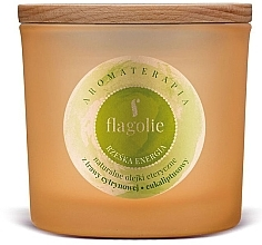 "Profumi e cosmetici Candela profumata in bicchiere ""Energia"" - Flagolie Fragranced Candle Right Energy"