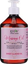Profumi e cosmetici Olio per massaggi - Eco U Massage Oil Sweet Almond Oil