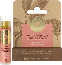 Profumi e cosmetici Balsamo labbra con propoli e burro di cacao - Green Feel's Natural Lip Balm
