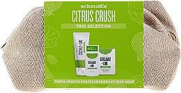 Set - Schmidt's Citrus Crush Trio Selection (deo/58ml + soap/142g + t/past/100ml + bag) — foto N1