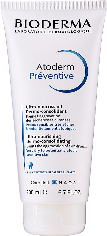 Crema nutriente dermo-consolidante - Bioderma Atoderm Preventive Nourishing Cream Dermo-Consolidating