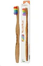 Profumi e cosmetici Spazzolino da denti in bambù, arcobaleno - The Humble Co. Proud Rainbow Soft Toothbrush
