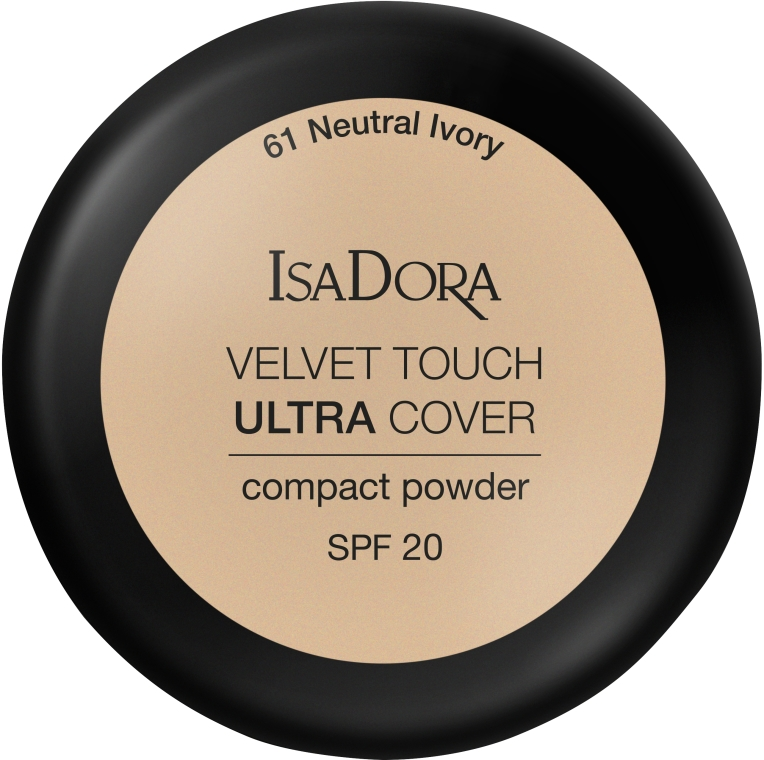 Cipria - IsaDora Velvet Touch Ultra Cover Compact Powder SPF 20 (61 -Neutral Ivory)